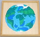 GEORGE LUCK(イギリス)木製パズル「MAP地球」専用額付