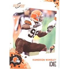 Kamerion Wimbley - Cleveland Browns - 2010 Score Football Card - NFL Trading Card in...