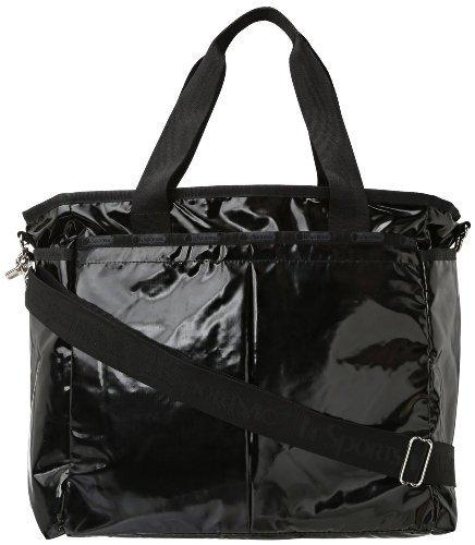 LeSportsac Ryan Baby Bag (Black Patent) by LeSportsac