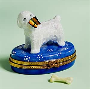 Amazon.com - Limoges Bichon Frise with Butterfly Box - Home Decor