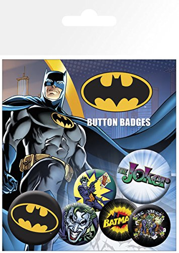 GB eye LTD, Batman Comic, Logo y Joker, Pack de Chapas