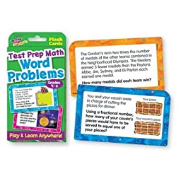 Trend - 8 Pack - Challenge Flash Cards Math Grades 4-6 3 1/8 X 5 1/4 56 Per Pack \