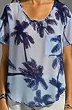 Patterson J. Kincaid PJK Women's Sugar Palm Meyer Blouse, Blue, M