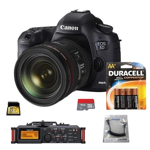 Canon EOS-5D Mark III DSLR Camera Body Kit with EF 24-70mm f/4L IS Lens