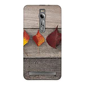 Leaves on Wood Back Case Cover for Asus Zenfone 2