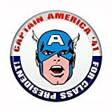 Captain America For President - Marvel Comics - Pinback Button 1.5""