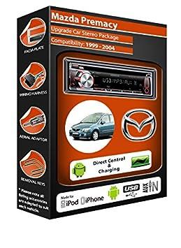 Mazda de lecteur CD et stéréo de voiture radio Clarion jeu USB pour iPod/iPhone/Android