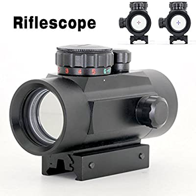 X-Aegis Rifle scope 1x40RD Red/Green Dot Sight with 11mm/20mm Weaver P-i-c-a-t-i-n-n-y Mounting Brightness for Hunting Shooting by X-Aegis