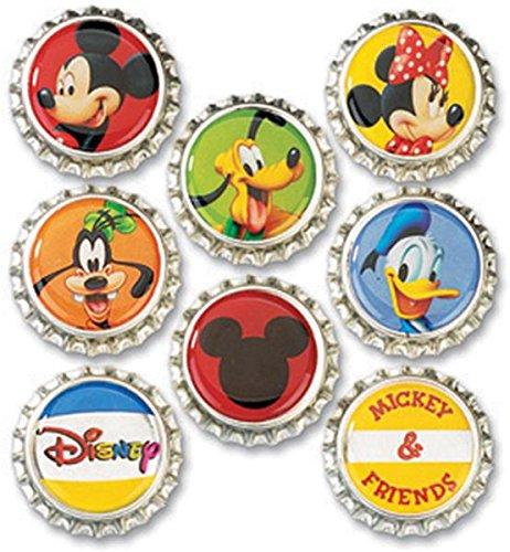 Ek Success Disney Bottle Caps, Mickey, 8-Pack front-606423