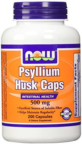 Psyllium Husk 500 mg 200 Capsules (Pack of 2) (Now Psyllium Husk Caps compare prices)