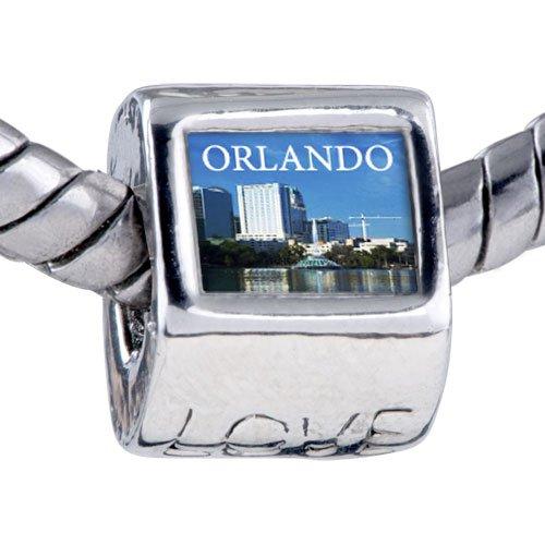 Pugster Bead Orlando City Scenery Photo Love European Charm Bead Fits Pandora Bracelet