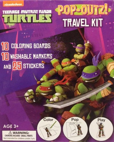 Teenage Mutant Ninja Turtles Pop-Outz Travel Kit - Coloring Boards, Markers, and Stickers