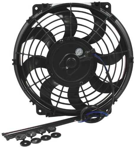 """Allstar Performance All30072 11"""" 1080 Cfm Curved Blade Electric Fan"""