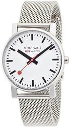 Mondaine Men's A658.30300.11SBV Quartz Evo Steel Band Watch