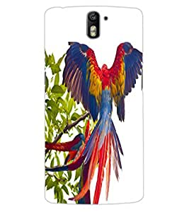 ColourCraft Beautiful Parrot Design Back Case Cover for OnePlus One