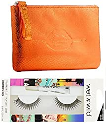 MAKE UP FOR EVER Festive Carry pouch and a free set of wetn wild faux eyelashes
