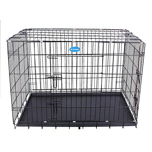 Songmics gabbie per cuccioli cane metallo gabbia for Trasportino per cani amazon