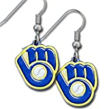 MLB Milwaukee Brewers Dangle Earrings