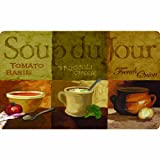 Apache Mills 60-122-0208-18X30 Soup Du Jour Kitchen Mat, 18-Inch by 30-Inch
