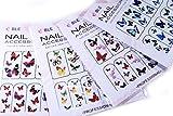 Butterflies Nail Art Water Slide Tattoo Decals, Pack of 4