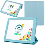 Evecase Ultra-Thin Multi-angle Stand Slim Smart Cover Case for Tabeo e2 8 inch Kids Tablet - Toys R Us' 2nd Gen Android Tablet (Blue)