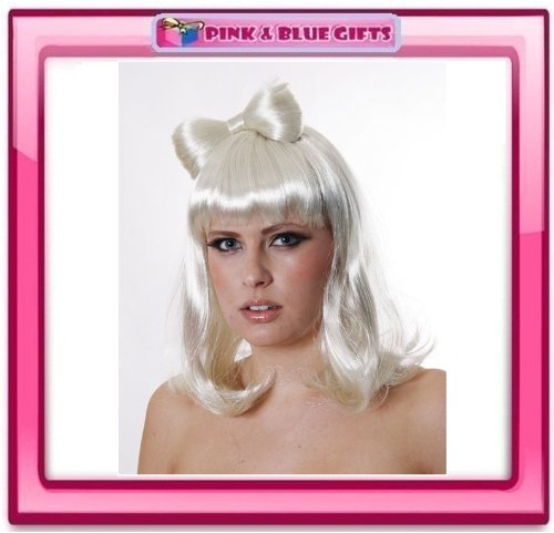 POPSTAR BOW BLONDE WIG LIKE LADY GAGA POP SINGER U36165