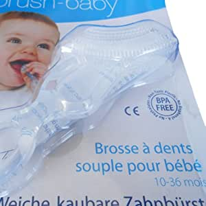 Brush-Baby Chewable Toothbrush (Clear)
