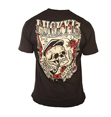 Men's Lucky 13 Apparel Whiskey And Tears T-Shirt Black