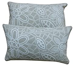 Krishna Embroidered Two Pillow Covers Set