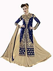 Jiya Presents Lehenga Choli(Chikoo,Blue)