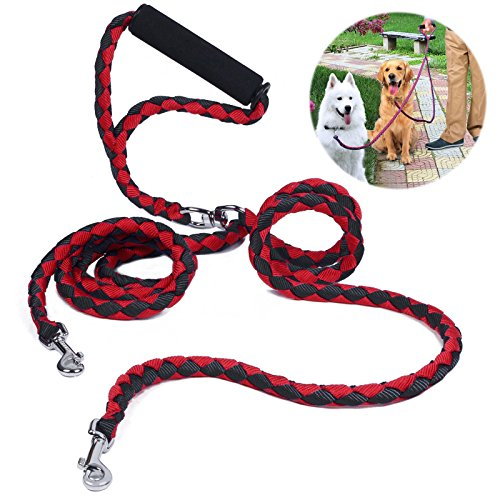 double-dog-lead-no-tangle-petbaba-14m-46ft-long-padded-handle-braid-nylon-training-lead-for-2-dogs-r