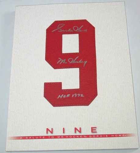 Gordie Howe Signed HOF Nine Book & Exact Video WHALERS PSA - Autographed NHL Magazines