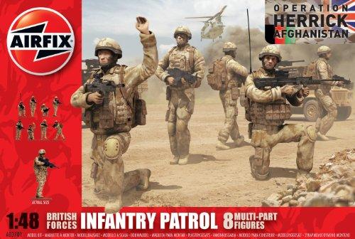 Airfix A03701 British Patrol Troops (Afghanistan) 1:48 Scale Series 3 Plastic Figures