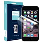 iPhone 6 Plus Screen Protector, Spigen® [Steinheil] iPhone 6 Plus (5.5) Screen Protector [FLEX] Clear Screen Protector Flexible Wet Screen Protector for iPhone 6 Plus (5.5) (2014) - Flex (SGP11089)