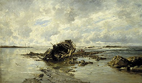 ['Haes Carlos De A Wrecked Ship 1883 ' Oil Painting, 8 X 14 Inch / 20 X 35 Cm ,printed On High Quality Polyster Canvas ,this Imitations Art DecorativePrints On Canvas Is Perfectly Suitalbe For Kids Room Decor And Home Decor And] (Chicago The Musical Costume Ideas)