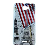 Exclusive Design For HTC Desire 516 Hard Back Case Cover - Flag Tower