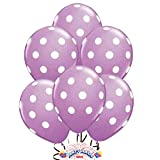 12 Purple Dot Polka Dot Balloons - Made in USA