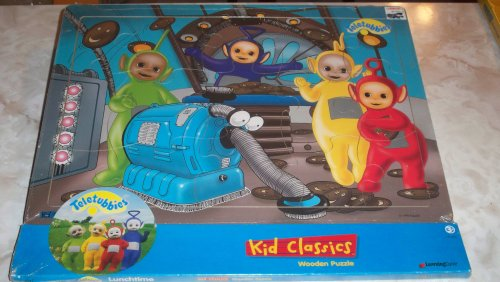 "1996 Teletubbies Kid Classics Wooden Puzzle 15"" X 11.5"" By Learning Curve - 1"