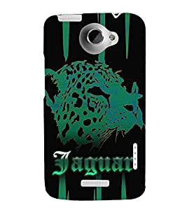 Jaquar Cheeta Art 3D Hard Polycarbonate Designer Back Case Cover for HTC One X