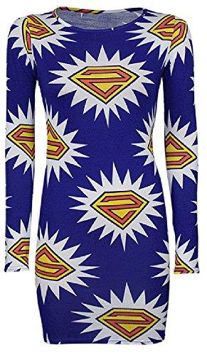 TrendyFashion -  T-shirt - Donna Multicolore SUPERMAN BLUE/WHITE