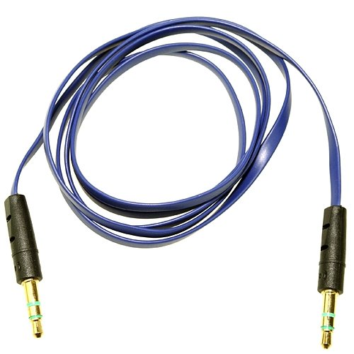 Blue Audio Lead/Cable/Cord/ For Beats By Dr Dre Headphones Car Aux 3.50Mm Jack **Ablegrid Trademarked**