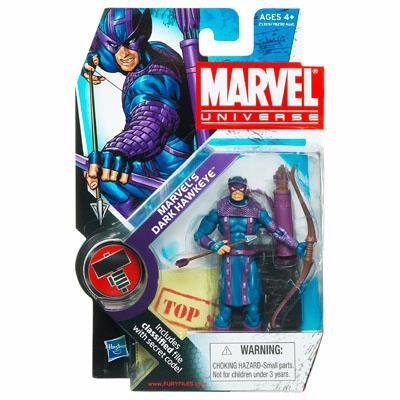 Marvel Universe 3 3/4 Inch Series 11 Action Figure #31 Marvels Dark Hawkeye Dark Avengers