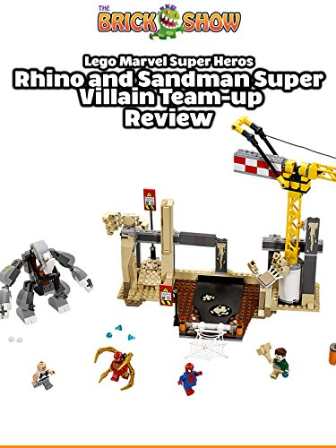LEGO Super Heroes Rhino + Sandman Supervillian Team-Up Review (76037)