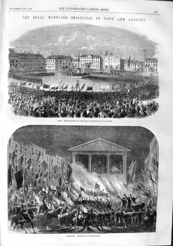 1863 ROYAL WEDDING LYNN LANCASTER MALVERN LONDON DEAL