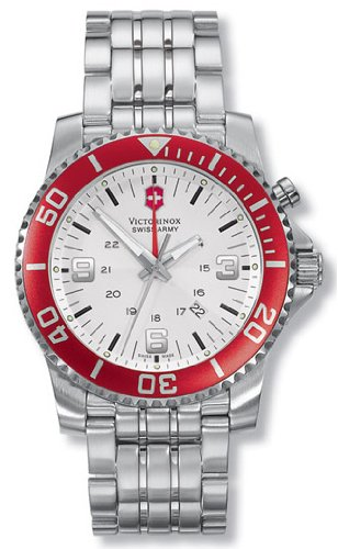 Swiss Army Maverick II Alarm Stainless Steel Mens Watch 24141