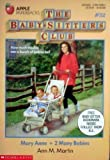 Mary Anne and 2 Many Babies (Baby-Sitters Club, No. 52) (0590449664) by Martin, Ann M.