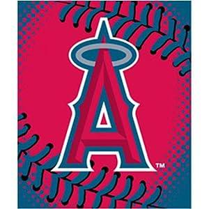 Anaheim Angels Royal Plush Raschel MLB Blanket (Big Stitching Series) by Northwest... by Northwest