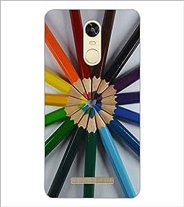 PrintDhaba Colour Pencils D-2239 Back Case Cover for XIAOMI REDMI NOTE 3 PRO (Multi-Coloured)