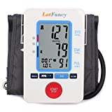 LotFancy FDA Approved Auto Digital Arm Blood Pressure Monitor, 30X4 Memories For 4 Users, Irregular Heart Beat Detection, 3 Inch Large LCD,Who Indicator (Medium Cuff 8.5-14 Inch)