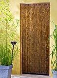 Vorhang aus beidseitig handbemalten, feinen Bambusröhrchen.* Elegant leis schwingend durch besondere Ösenverbindungen* Maße ca. 90 x 200 cm (B x H)* an einer Leiste mit Aufhängeösen* Feine Handarbeit* 90 Stränge auf 90cm Breite!Perfekt als Ra...